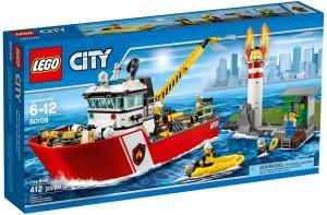 Конструктор LEGO City Fire Пожежний катер