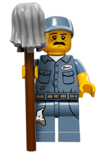 LEGO Collectable Minifigures Прибиральник / The Janitor
