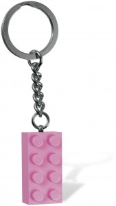 LEGO Key Chains Розовый кубик 2х4