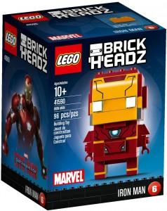 Конструктор LEGO Brickheadz Iron Man (Залізна людина)