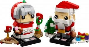 Конструктор LEGO Brickheadz Містер та міссіз Клаус