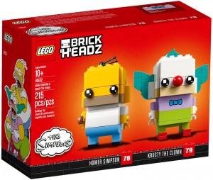 Конструктор LEGO Brickheadz Гомер Сімпсон і клоун Красті