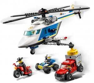 Конструктор LEGO CITY Погоня на поліцейському гелікоптері