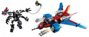 Конструктор LEGO Marvel Спайдерджет проти робокостюма Венома