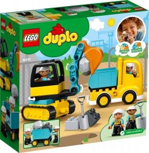 Конструктор LEGO® DUPLO® Вантажівка та гусеничний екскаватор