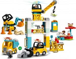 Конструктор LEGO® DUPLO® Підйомний кран і будівництво