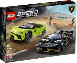 Конструктор LEGO Speed Champions Lamborghini Urus ST-X & Huracán Super Trofeo EVO