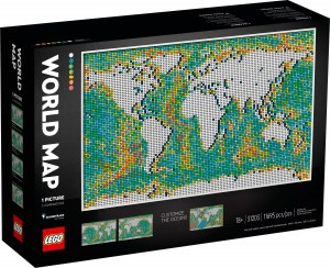 Конструктор LEGO ART Карта світу
