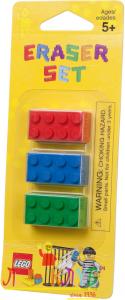Набір гумок Лего для хлопчиків (3шт.)