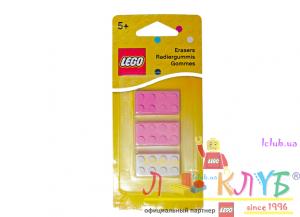 Набір гумок Лего для дівчат (3шт.)